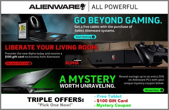 Triple Offers from Alienware