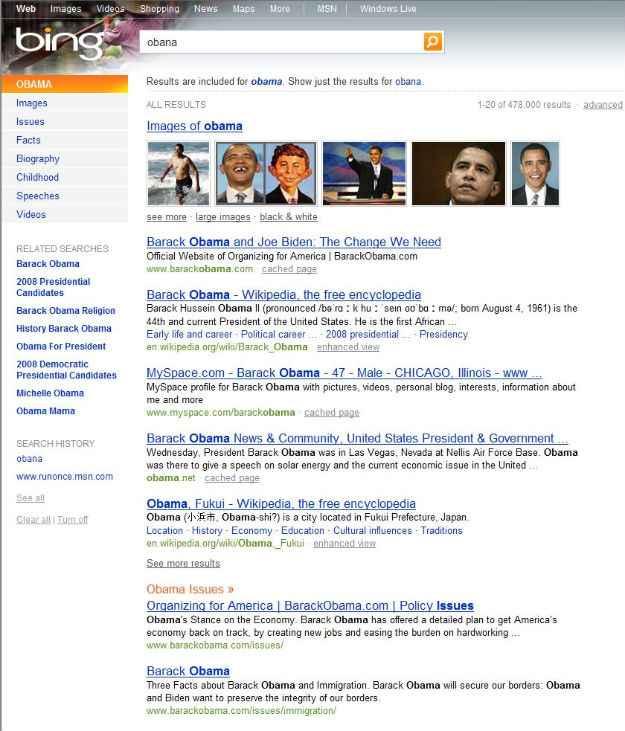 Bing Obama!