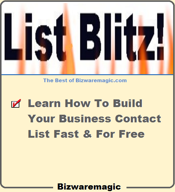 How to build your own effective business contact list fast and for free.