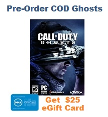 Dell Pre-Order COD Ghosts
