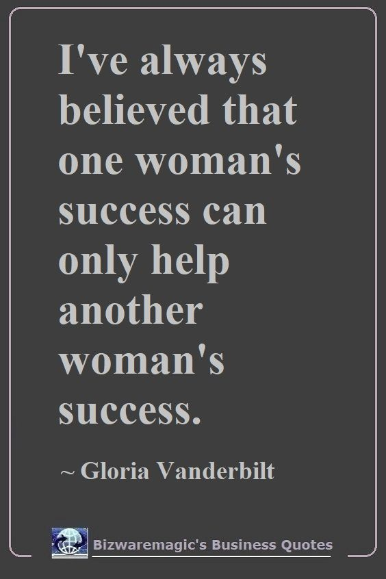 Gloria Vanderbilt Success  Quote