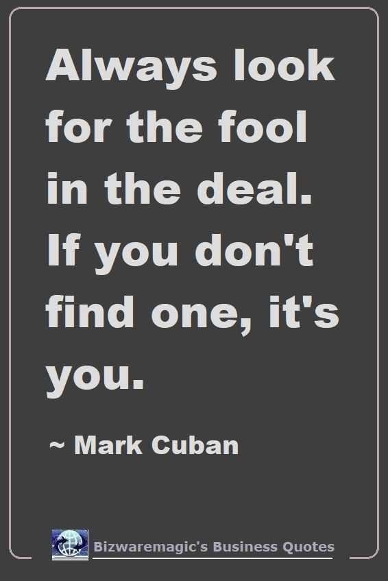 Mark Cuban Fool Quote