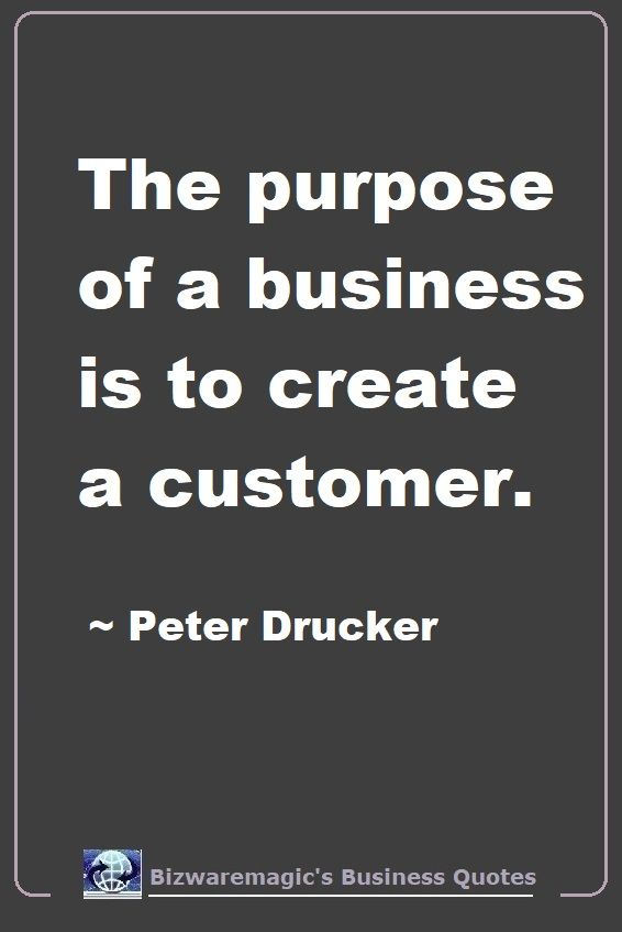 Peter Drucker Business Quote