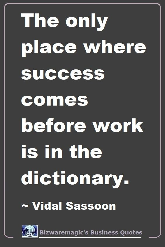 Vidal Sasson Buinsess Quote