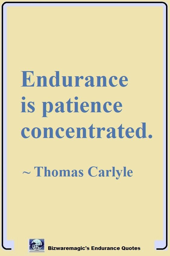 Thomas Carlyle Endurance Quote