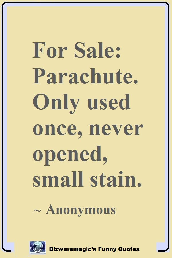 Anonymous Parachute Quote