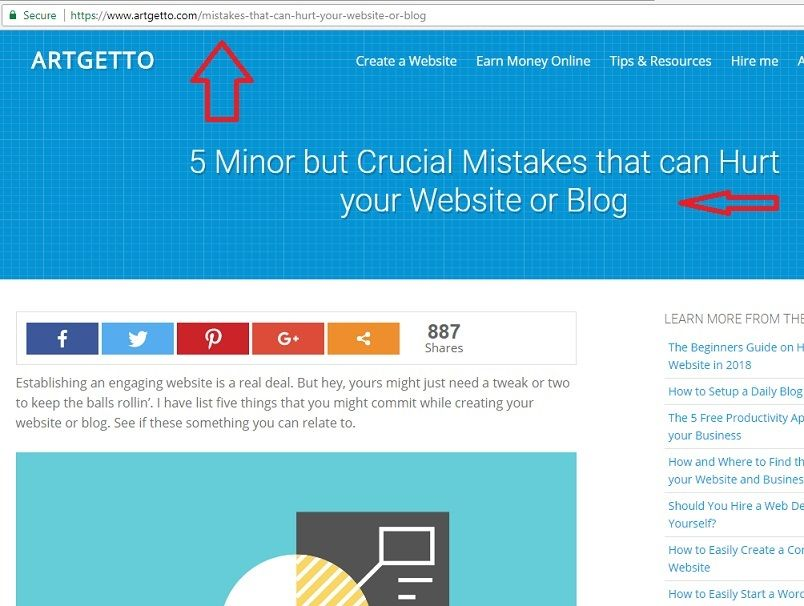 Pinterest Incorrectly Blocking Traffic Screenshot - Blog Page Example Alive and Well on the Web - Marked 404 by Pinterest.